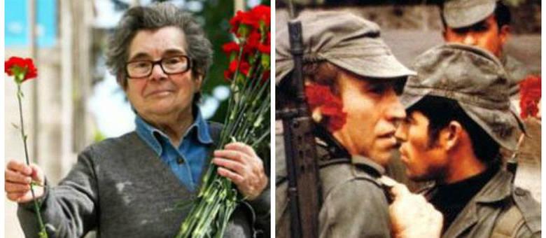 Селесте Каейро днес (вляво) и архивен кадър с войници от нейната младост. Снимка: noticias.r7
