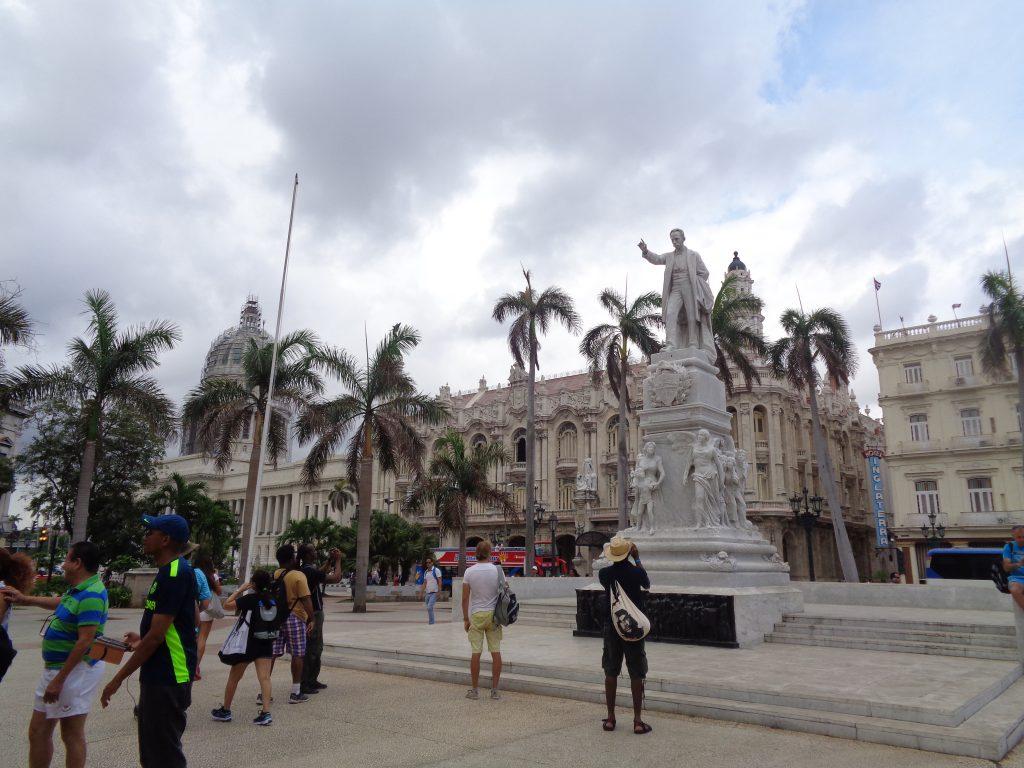 Паметникът на Хосе Марти в Централния парк на Хавана. Снимка: Къдринка Къдринова