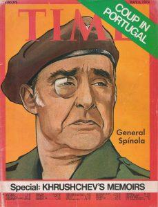 """Генерал Спинола е на корицата на списание """"Тайм"""" след извършването на революцията на 25 април 1974 г."""