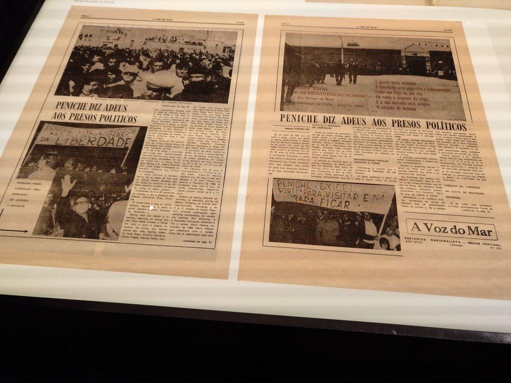 Вестник от 1974 г., известяващ за освобождаването на политическите затворници от Пенише. Снимка: Пауло Тожейра