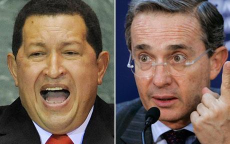 Уго Чавес и Алваро Урибе. Снимка: Фейсбук