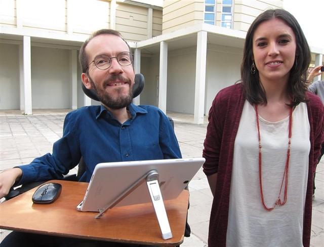 Пабло Еченике и Ирене Монтеро поеха съвместно партийното ръководство, докато Пабло Иглесиас беше в отпуск по бащинство. Снимка: Europa Press