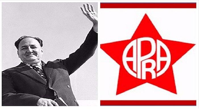 Основателят на партията APRA Виктор Раул Айя де а Торе и партийният символ. Снимка: ojo.pe