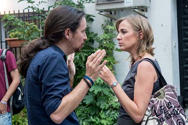 Пабло Иглесиас и Таня Санчес. Снимка: OK Diario