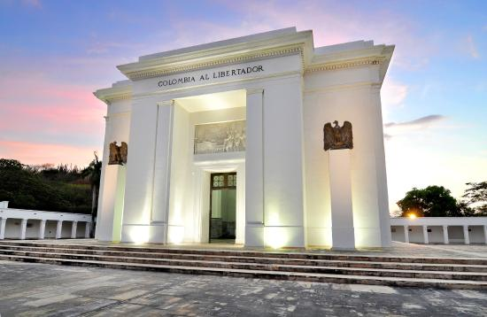 """""""Олтарът на отечеството"""" в """"Сан Педро Алехандрино"""", издигнат в памет на Освободителя Симон Боливар. Снимка: Museo Bolivariano"""