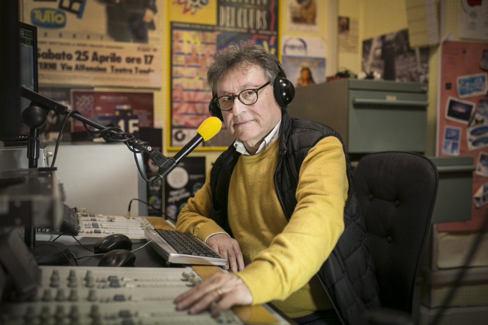 """Джорджо Бриджи от Радио """"Галилей"""". Снимка: El Pais"""