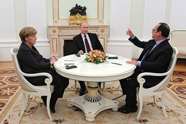"""Срещата на """"нормандската четворка"""" в Берлин бе първата в този формат от октомври 2015 г."""