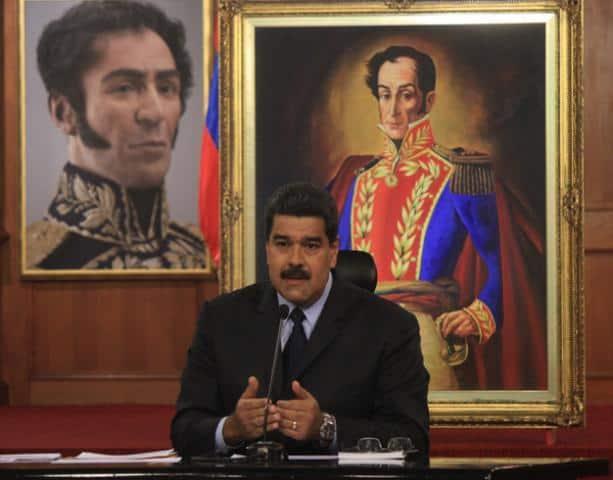 Николас Мадуро по време на пресконфаренцията