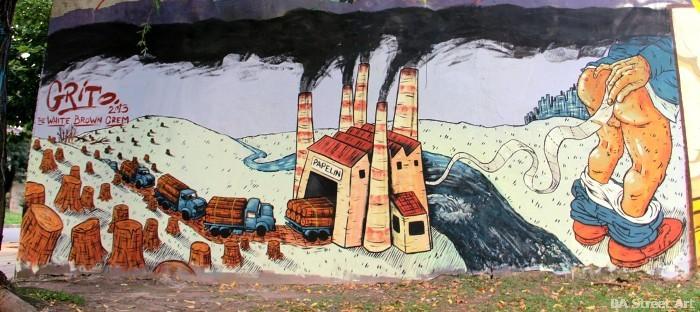 Горите се изсичат, въздухът се задимява, водите се тровят, за да се произведе... тоалетна хартия. Репродукция: resumen.cl