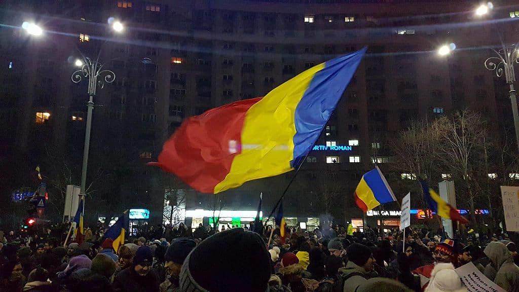 Момент от тазгодишните протести в Букурещ. Снимка: Wikimedia Commons