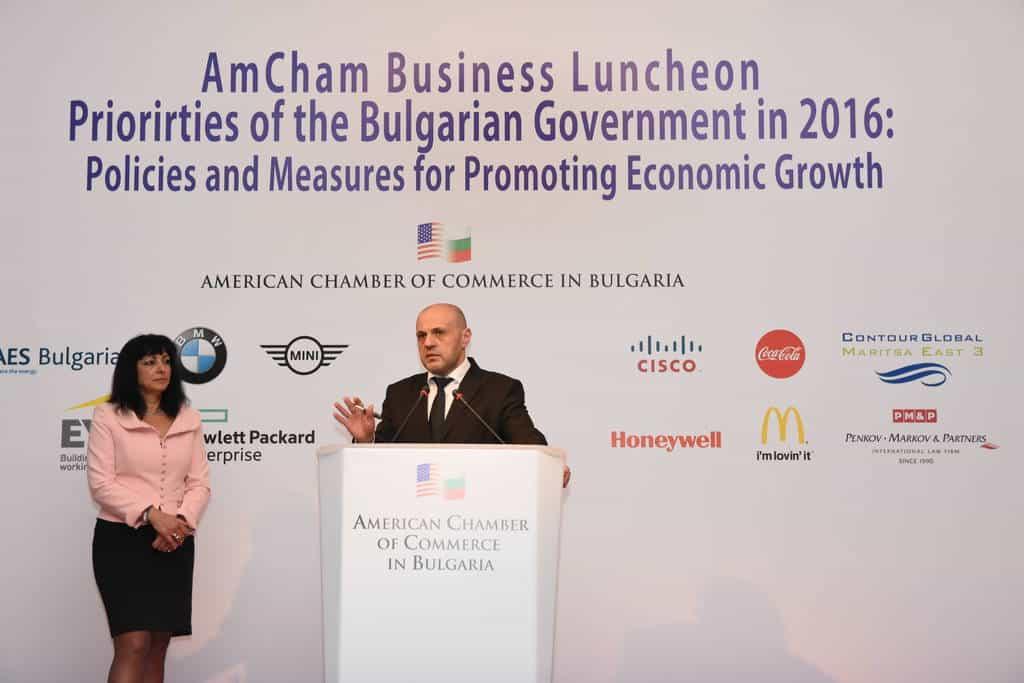 Бившият вицепремиер Томислав Дончев на конференция, организирана от АТКБ. Снимка: http://amcham.bg