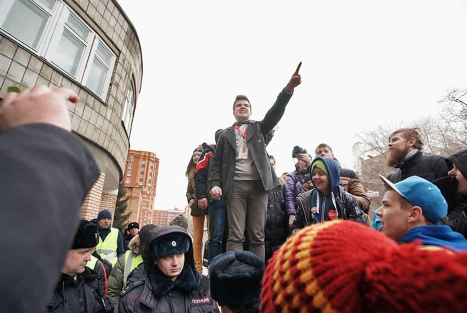 Младежката възраст на доста участници в протестите срещу корупцията, провели се на 26 март в различни руски градове, включително и в Москва. Снимка: Коммерсантъ