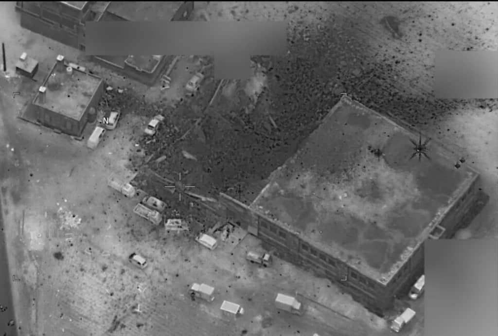 Пентагонът сам разпространи кадри, на които се виждат последствията от удара. Снимка: US Navy