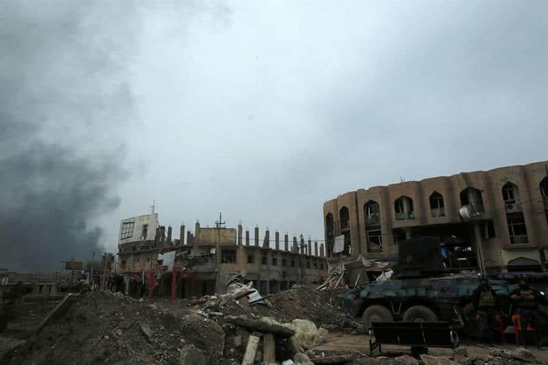 Разрушенията в Западен Мосул са по-тежки, отколкото в Източен. Снимка: Twitter @europapress