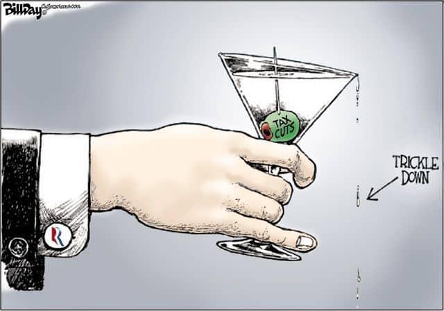 """""""Теорията на просмукването"""" гласи, че колкото по-богати стават богатите, толкова по-добре и за бедните, тъй като """"богатството ще се просмука"""" и към тях. В реалността просмукването всъщност е... изсмукване."""