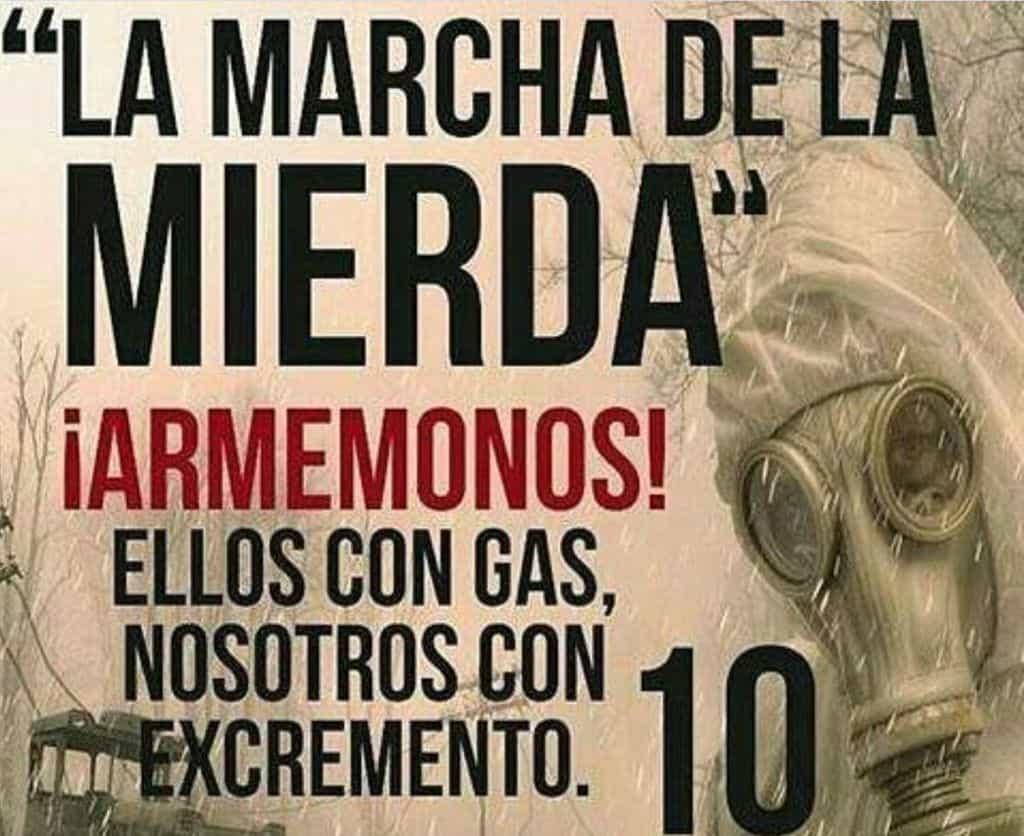 Становището, в което венесуелското вътрешно министерство предупреждава, че ще счита употребата на екскременти за прилагане на биологическо оръжие. Снимка: Туитър