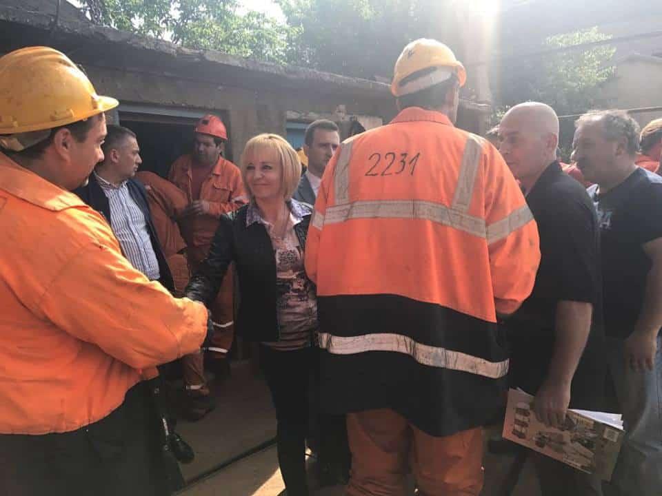След временното прекратяване на концесията и намесата на омбудсмана, миньорите излязоха от шахтата, в която прекараха близо 4 денонощия. Снимка: Омбудсман на РБ
