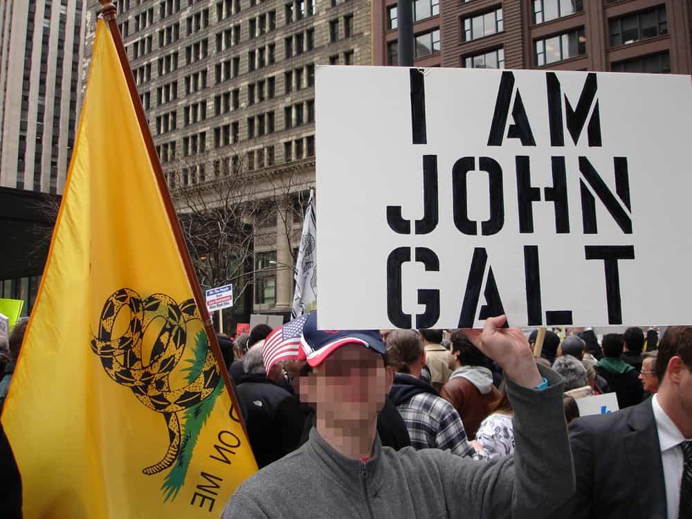 """Персонажите на Айн Ранд като Джон Голт са герои и за """"Чаеното парти"""" в САЩ. Снимка: Wikimedia Commons"""