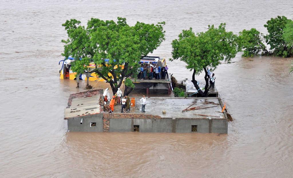 Тежко наводнение в Индия през 2015-та година. Снимка: Wikimedia Commons