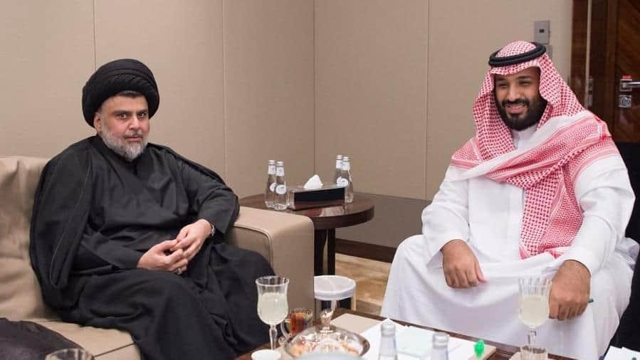 Снимката на ал-Садр (в ляво) и саудитския престолонаследник предизвика критики в иранската преса. Източник:  Saudi Press Agency