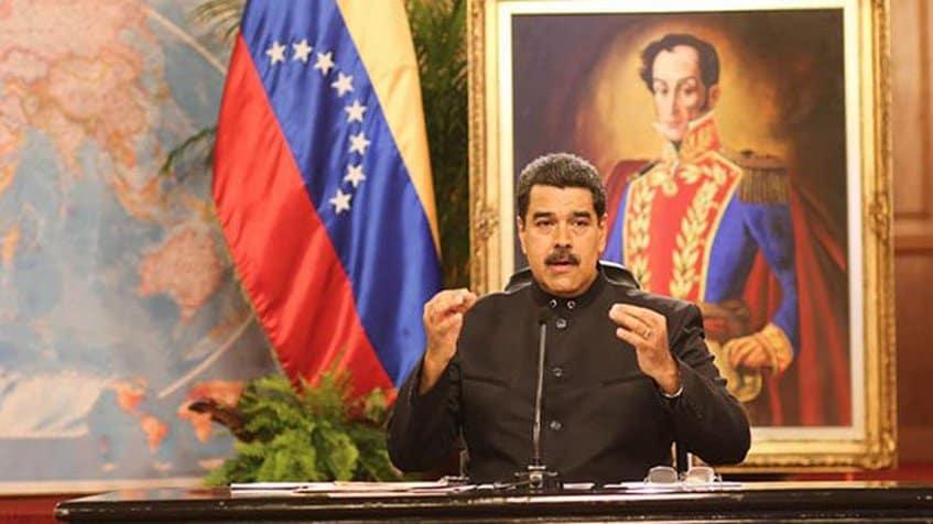 Президентът Николас Мадуро по време на 3-часовата си пресконференция. Снимка: Prensa Presidencial