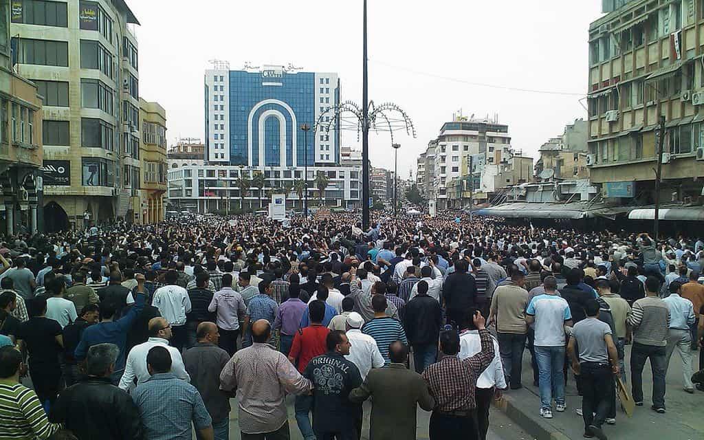 Антоправителствена демонстрация в Хомс, 2011 г. Снимка: Wikipedia