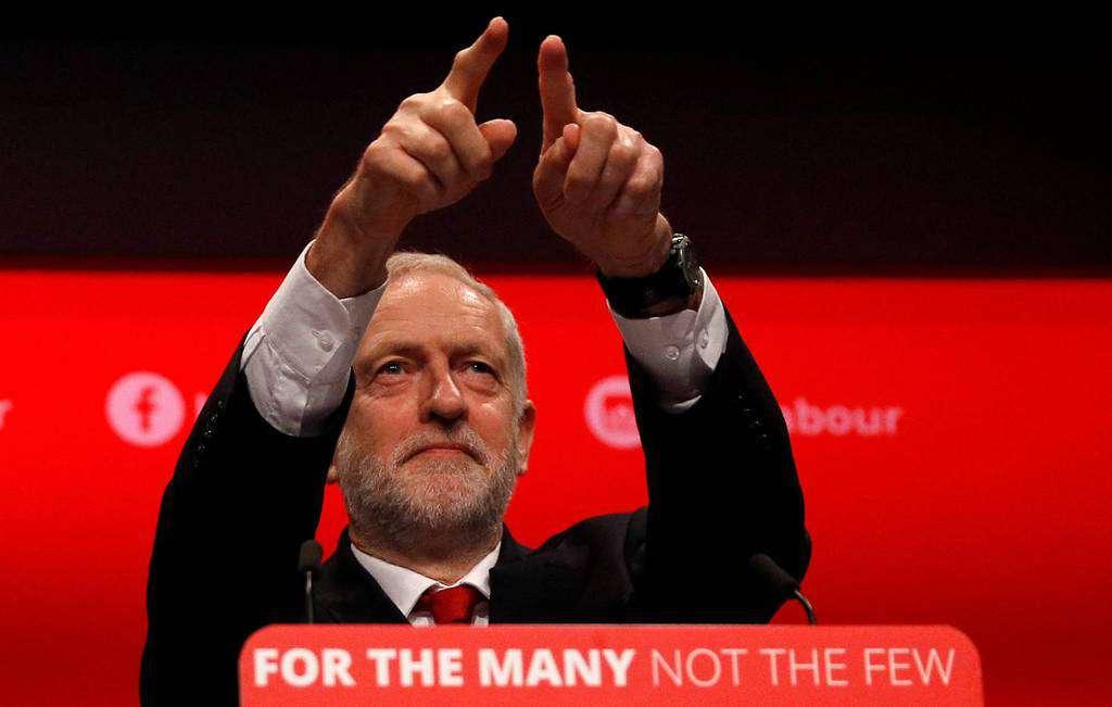 Джереми Корбин по време на заключителната си реч на конгреса на лейбъристите в Брайтън. Снимка: El Pais