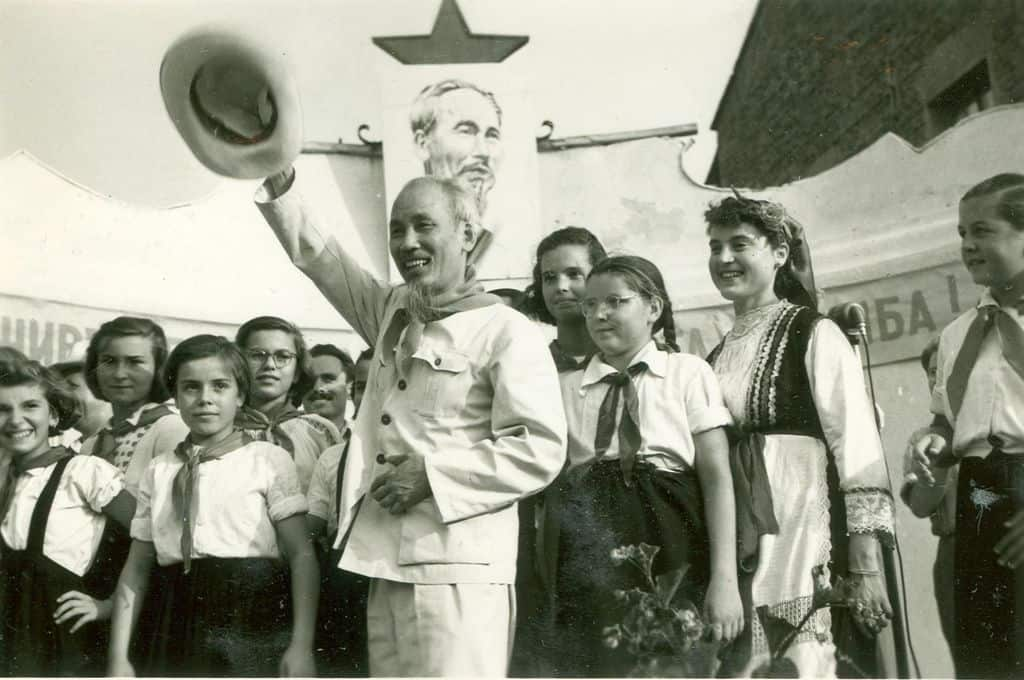 Хо Ши Мин по време на посещението си в България през август 1957 г. Снимка: Личен архив
