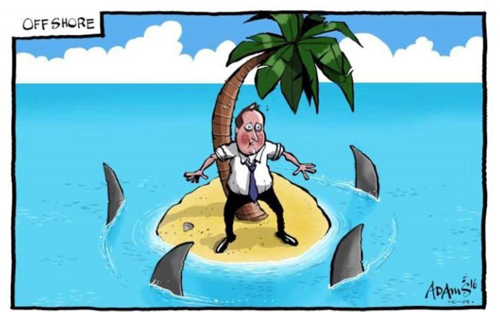 """Името на бившия британски премиер Дейвид Камерън бе едно от онези, които изплуваха покрай офшорния скандал """"Панамските документи""""."""