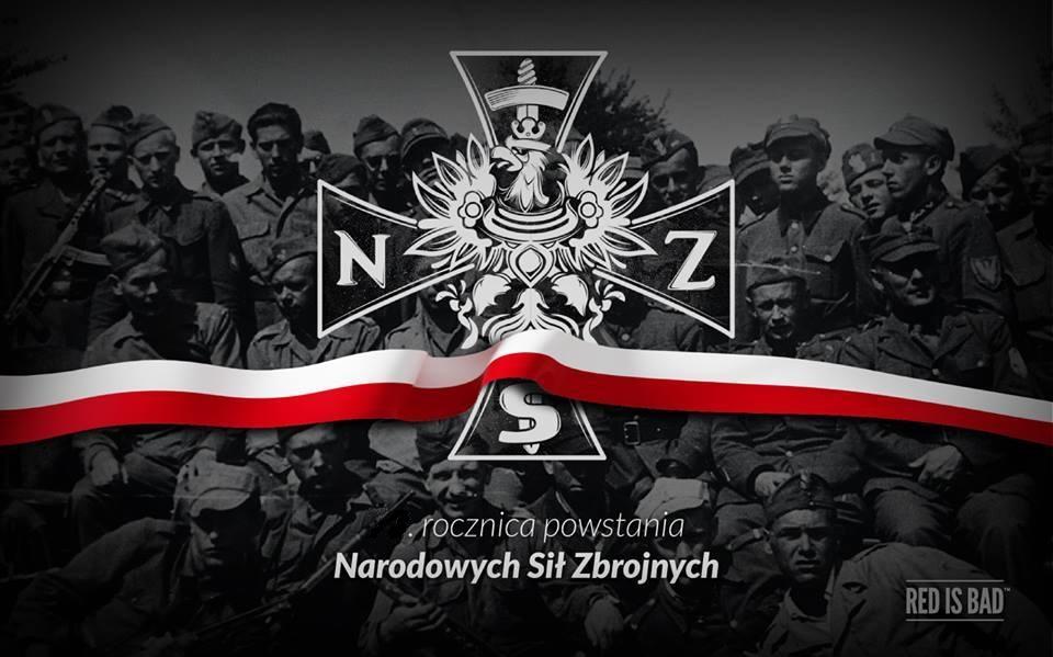 """Така изглежда съвременната пропаганда на """"Националните въоръжени сили"""". Забележете надписа Red is Bad. Снимка : Facebook"""