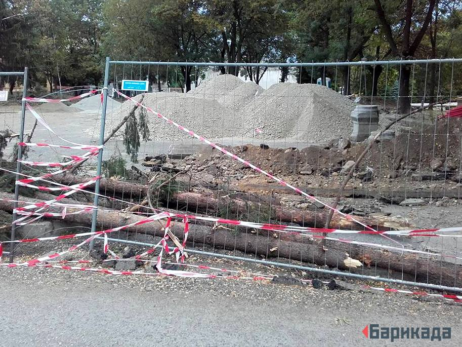 Част от строителната площадка. Снимка: Барикада