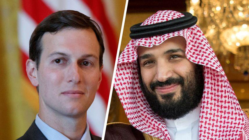 Зетят на Тръмп Джартед Кишнер и саудитският престолонаследник Мохамед бин Салман изглежда имат изкривена и нереалистична представа за света около себе си. Снимка: haaretz.com