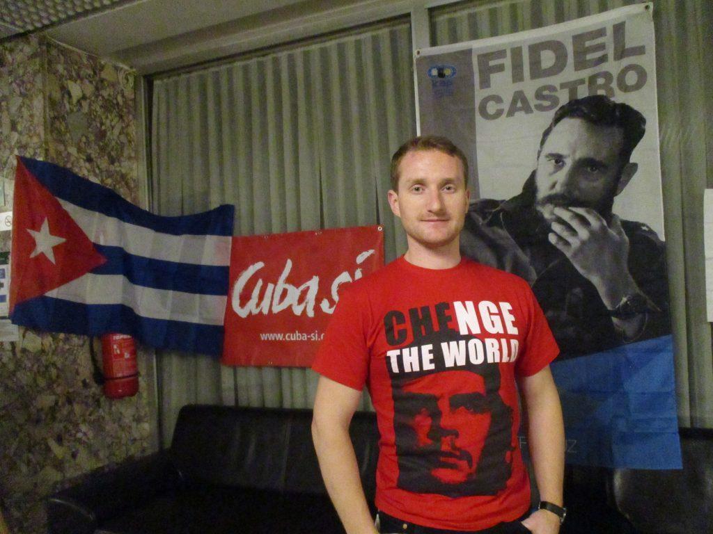Станислав Ретински по време на международната среща за солидарност с Куба в София. Снимка: Къдринка Къдринова