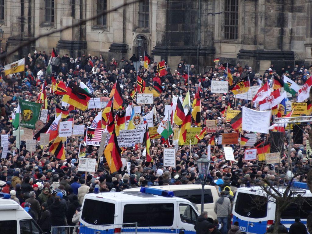 Протест на PEGIDA в Дрезден, 2015 г. Снимка: Wikimedia Commons