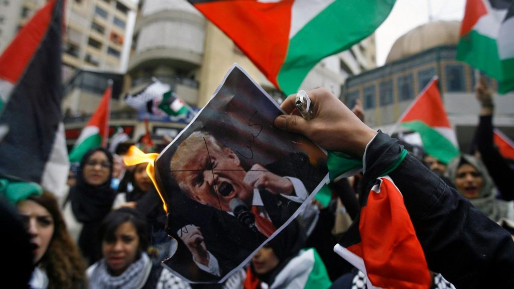 Решението на Тръмп за Йерусалим предизвика масови протести в Палестина и по света Източник: cetusnews.com