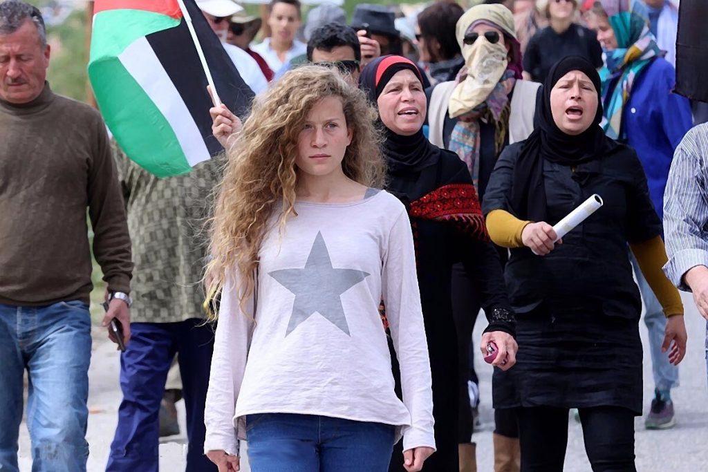 Ахед Тамими и семейството й често са на първа линия на протестите в родното им село. Снимка: Wikimedia Commons