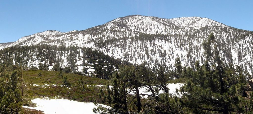 Така изглеждат планините над Сан Бернардино. Снимка: Wikipedia