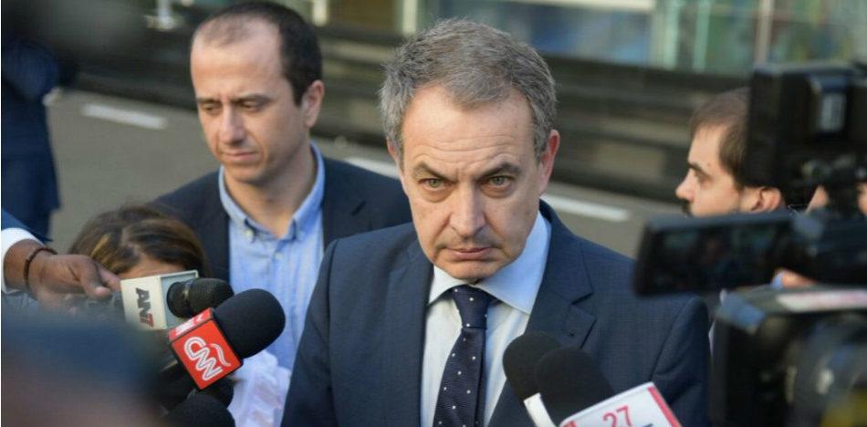 Хосе Луис Родригес Сапатеро след отказа на венесуелската опизиция да подпише споразумението в Доминиканската република. Снимка: EFE