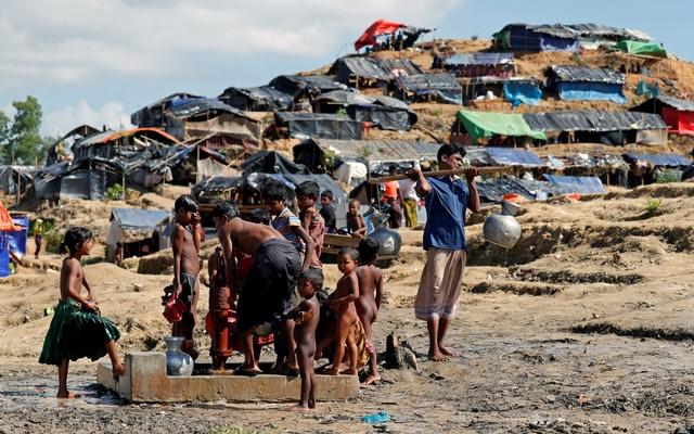 Бежанският лагер Балкухали в Бангладеш. Снимка: Ройтерс