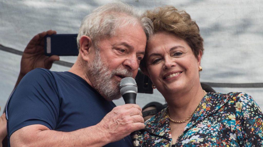 Лула да Силва и Дилма Русеф на 8 април т.г. в Сао Пауло. Снимка: Todo Noticias