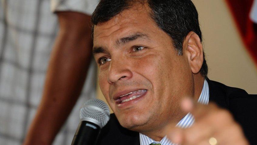 Бившият президент на Еквадор Рафаел Кореа. Снимка: Noticiero