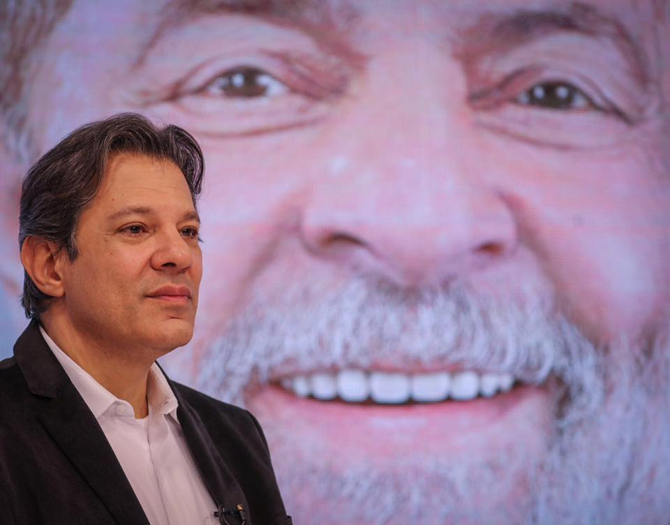 Фернандо Адад става официален кандидат-президент на Бразилия от името на Работническата партия и съюзени с нея леви формации. Снимка: Фейсбук