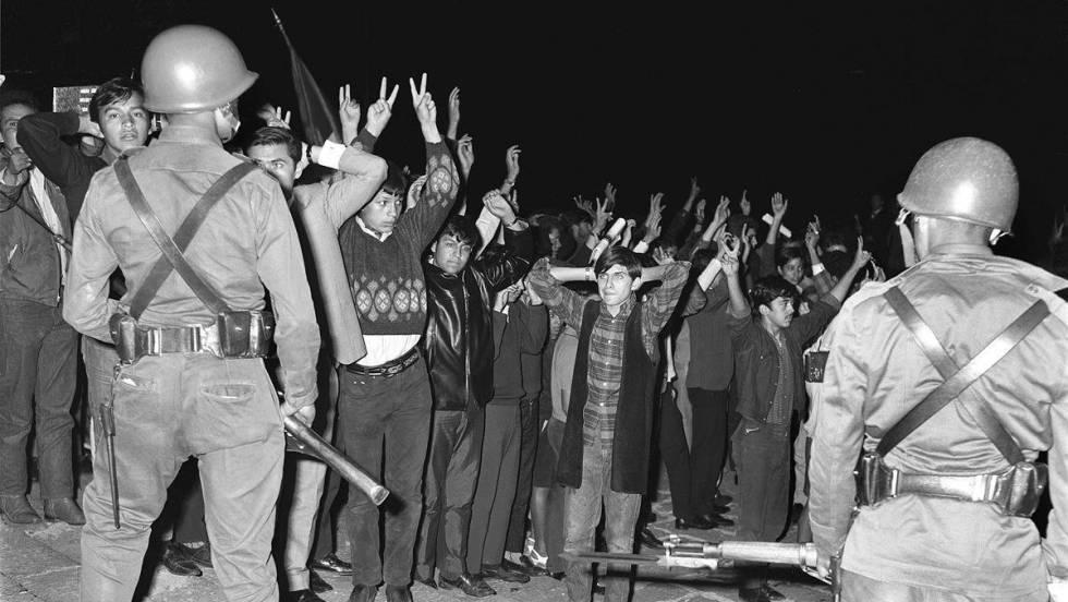 """На площад """"Тлателолко"""" на 2 октомври 1968 г. са избити между 300 и 1500, а други хиляди са арестувани. Снимка: EFE"""