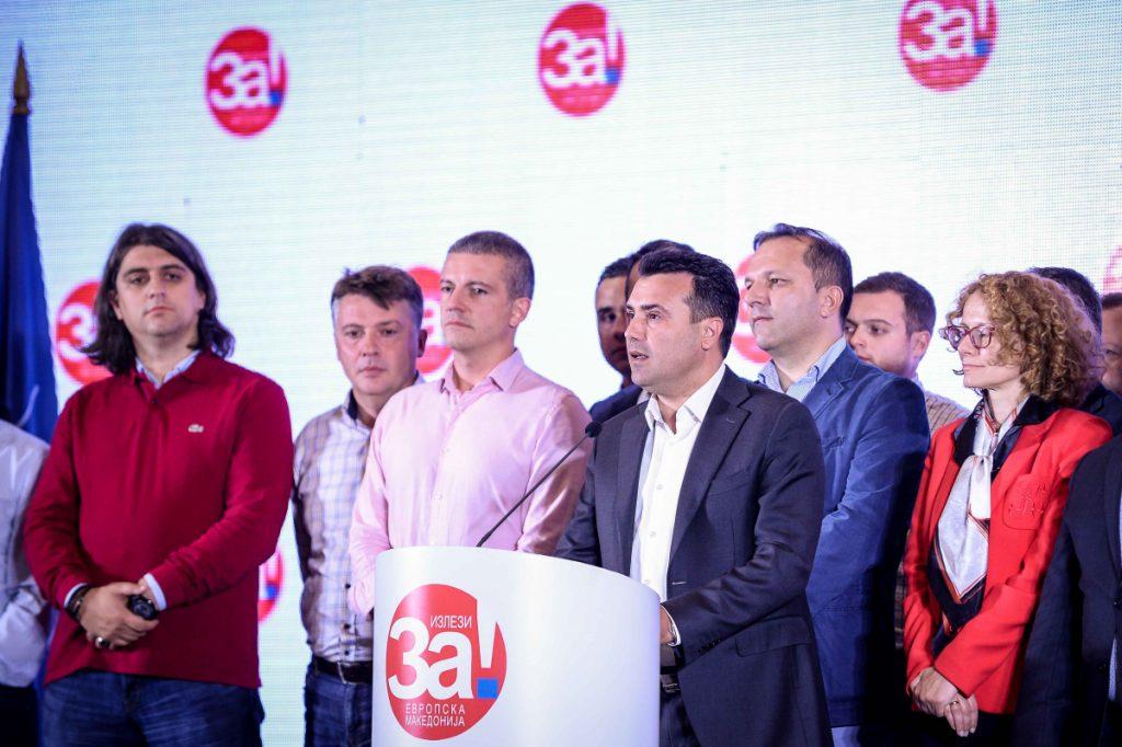 """Премиерът Зоран Заев се постара да представи като победа онези 91%  """"да"""" в референдума, в който обаче участваха едва 37% от избирателите. Снимка: vlada.mk"""