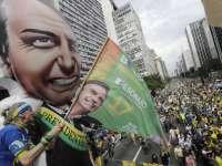 Един от митингите в подкрепа на Жаир Месиас Болсонаро в Сао Пауло. Снимка: EFE