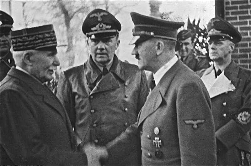 Петен се среща с Хитлер, 1940 г. Източник: Wikimedia Commons