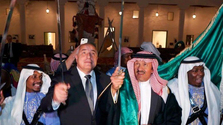 Бойко Борисов в танц със саби със саудитския крал. Снимка: Фейсбук профил на Бойко Борисов