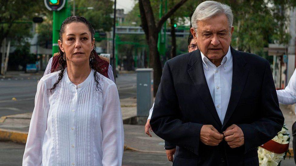 Клаудия Шейнбаум Пардо и Андрес Мануел Лопес Обрадор. Снимка: Resumen Iatinoamericano