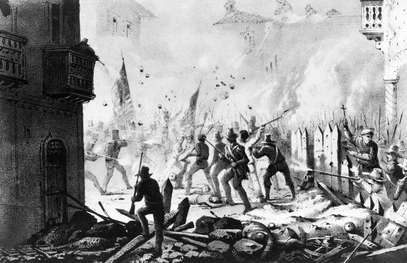 Картина, изобразяваща обсадата на Монтерй, Мексико през 1846 г. Източник: US Army signal corps/AP
