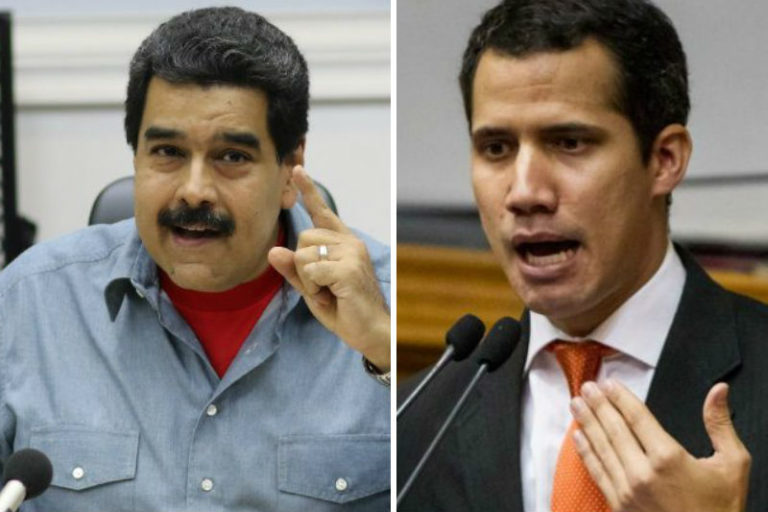 Николас Мадуро, който положи клетва за втори президентски мандат, приема като шоу самообявяването за президент на Хуан Гуайдо, новия шеф на суспендираното от съда Национално събрание. Снимка: notitotal